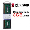 Mémoire DDR3  8Go  PC10600  1333Mhz  KINGSTON Value Ram